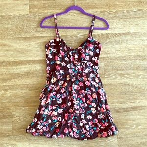 Black floral sundress from Express